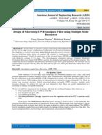 Design of Microstrip UWB bandpass Filter using Multiple Mode Resonator