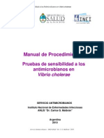 Manual de Procedimientos Pruebas de Sensibilidad Vibrio Cholerae