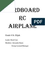 Cardboard RC Airplane