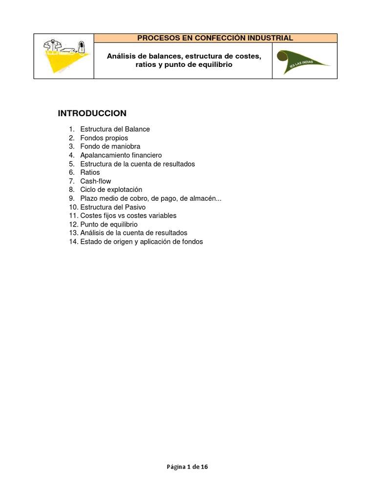 Tema 2 analisis de balances for Analisis de balances