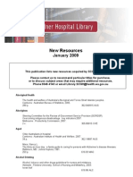 New Resources Sir Charles Gairdner Hospital Library