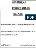 public notice extension of vat-20