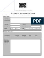 CRY Volunteer Registration Form