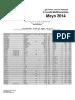 Lista de Medicamentos Liga Epilepsia- Mayo 2014 (2014!05!07)