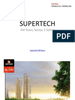 Supertech Upcoming Project Hilltown Sector 2 Sohna