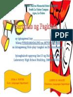 Sertipiko Ng Role-play