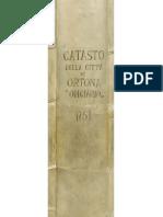 Onciario Comune di Ortona  del 1751 elenco dei capo famiglia