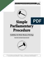 Simple Parliamentary Procedure.doc