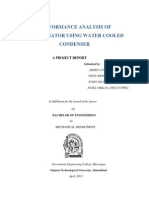 Performance Analysis of Refrigerator Using Water Cooled Condenser