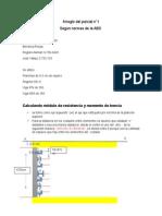 explicación del calculo del modulo de la sección