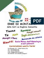 Catalogo Erbe di montagna
