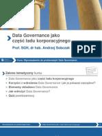 Data governance jako część ładu korporacyjnego