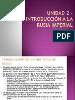 Unidad 2 – Rusia Imperial