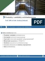 Produkty i artefakty architektoniczne