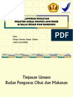 presentasi laporan pkpa bbpom