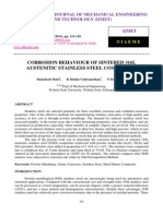 Corrosion Behaviour of Sintered 316l Austenitic Stainless Steel Composites
