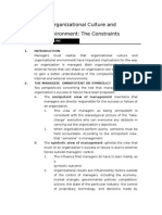 Chapter 3 Organizational Culture and Environment-The Constraints