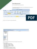 Unprotect an Excel Sheet