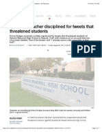 ca twitter threats to students