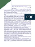 Historia Reciente de La Educación Chilena