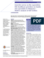 Public healthcare professionals' perceptions on family medicine specialists in Malaysia
