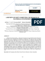 A Review of Soft Computing Techniques in Materials Engineering