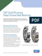 SKF Quiet Running Deep Groove Ball Bearings Brochure