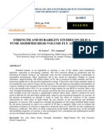 Strength and Durability Studies on Silica Fume Modified High Volume Fly Ash Concrete