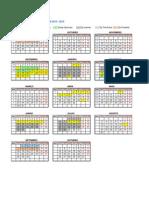 Calendario Academico 2014-2015 Veterinaria