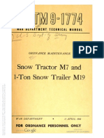 TM 9-1774 SNOW TRACTOR M7 AND SNOW TRAILER 1-TON M19
