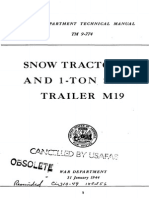 TM 9-774 SNOW TRACTOR M7 AND 1-TON SNOW TRAILER M19