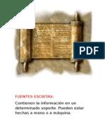 Fuentes Escritas MTI
