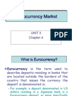 history of euro currency market