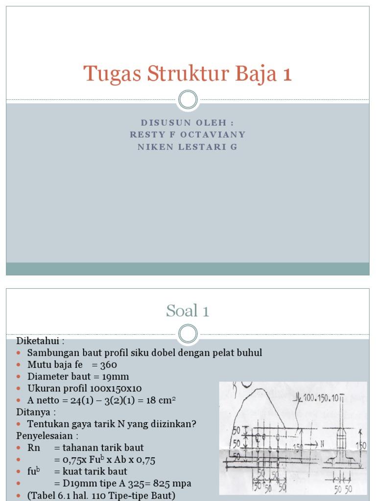 Tugas Struktur Baja 1 Baut Siku 1532650613v1