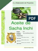 Proyecto de Elaboracion de Aceite de Sacha Inchi