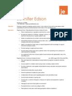 jennifer edson resume short