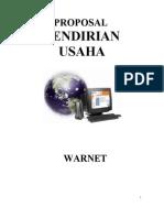 Proposal Usaha Warnet