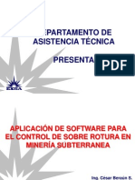 Aplicación de Software Para El Control de Sobre Rotura en Minería Subterranea
