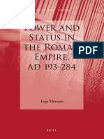 Power and Status in the Roman empire AD 193-284 by Inge Mennen
