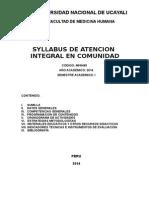 Sillabus Atencion Integral en Comunidad 2014