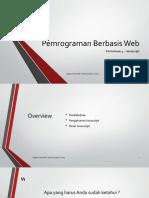 Pemrograman Berbasis Web 4 - Javascript
