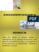 DOCUMENTOSCOPÍA