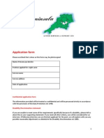 Peninsula Application Form 2011