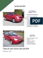 Venta de Auto Kia Rio Del 2011