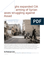 U.S. Weighs Expanded CIA Training, Arming of Syrian Allies Struggling Against Assad
