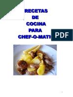 Recetas Chef o Matic