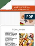 sustancias antinutritivas