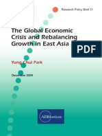 The Global Economic Crisis and Rebalancing Growth in East Asia