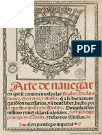 Arte Navegar Pedro Medina 1545