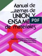 Manual de Sistemas de Union y de Ensamble de Materiales